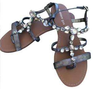 Madden Girl Good Womens Pewter Paris Sandals
