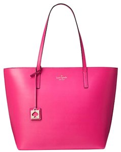 Kate Spade Leather Leather Large Hot Tote in Pink