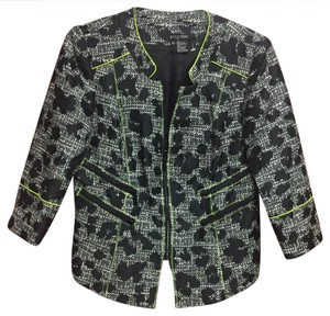 Etcetera Black and White with Lime Green Blazer