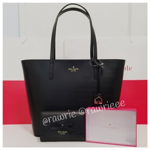 Kate Spade Set Gift Set Matching Set Handbag Wallet Set Leather Set Tote in Black