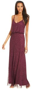Adrianna Papell Cassis/Wine Adrianna Papel Embellished Blouson Gown Dress