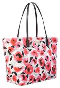 Kate Spade Oversized Large Tote Multifunction Tote Floral Roses Pink Travel Bag