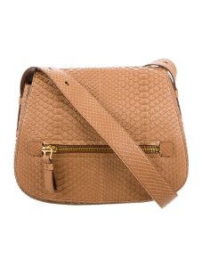 Tom Ford Saddle Python Leather Shoulder Bag