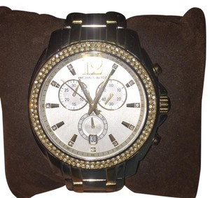 Michael Kors Michael Kors MK5603 Cameron Two Tone Stainless Steel Crystal Glitz Chrono Watch