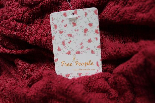 Free People Lightweight Off The Shoulders Sheer Swingy Super Soft Top Raspberry Image 10