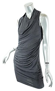 Helmut Lang short dress Charcoal Grey Asymmetrical Mini on Tradesy
