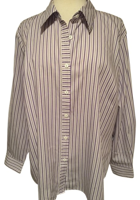 Preload https://img-static.tradesy.com/item/20770538/foxcroft-purple-wrinkle-free-collar-button-down-long-sleeve-striped-blouse-size-16-xl-plus-0x-0-1-650-650.jpg
