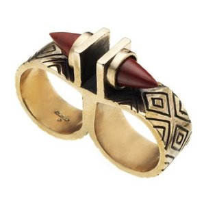 PAMELA LOVE Pamela Love Paramount Double Finger Ring