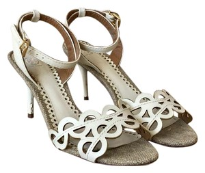 Tory Burch Leather Aileen Ivory Sandals