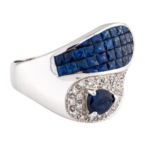 Other Blue sapphire and diamonds ring 14k gold