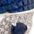 Other Blue sapphire and diamonds ring 14k gold Image 1
