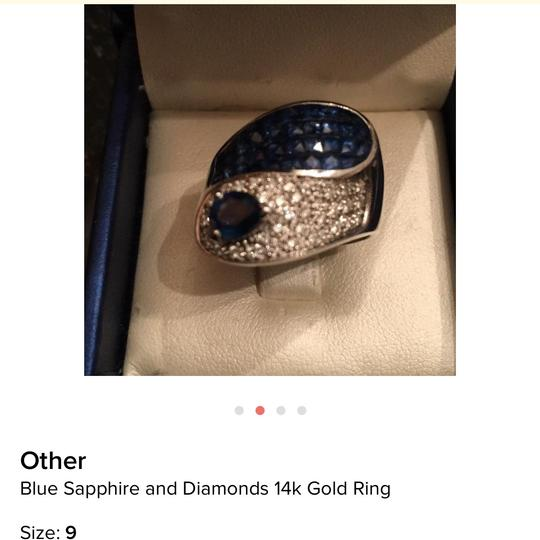 Other Blue sapphire and diamonds ring 14k gold Image 2