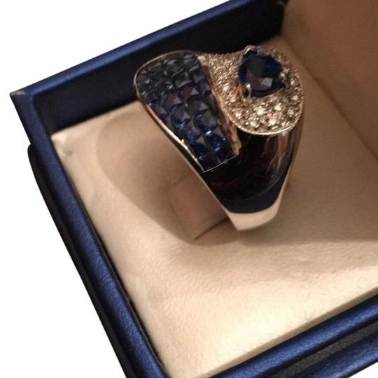 Other Blue sapphire and diamonds ring 14k gold Image 3