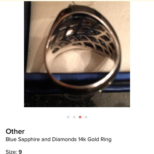 Other Blue sapphire and diamonds ring 14k gold Image 4