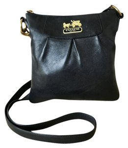 Coach Leather Gold Cross Body Bag