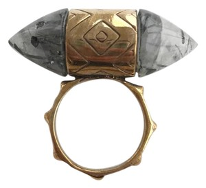 PAMELA LOVE Pamela Love Double Stone Etched Cocktail Ring