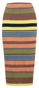 Topshop Chevron Pencil Stretchy Worn On Tv Skirt MULTI