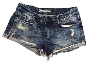 Aéropostale Booty Distressed Mini/Short Shorts Washed Out Denim