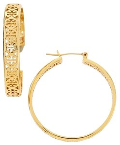 Tory Burch Tory Burch Large KINSLEY HOOP EARRINGS