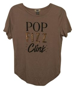 Old Navy Sequin Wedding Bachelorette Champagne T Shirt Pink