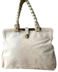Marc Jacobs Leather Caroline Satchel Tote in Ivory