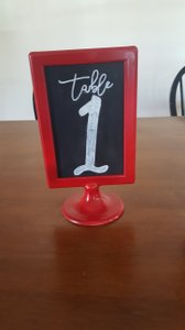 Red Tolsby Double Sided Chalkboard Table Numbers