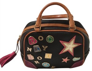 Dooney & Bourke Satchel in black and multi color accents