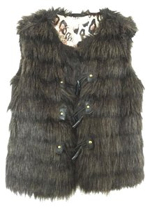 Macy's Faux Fur Winter Wear Chic Vest