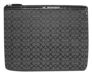 Coach COACH Black Signature IPAD TABLET EREADER Padded Case