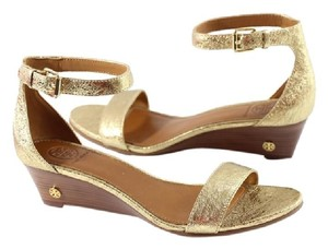 Tory Burch Wedges Gold Sandals
