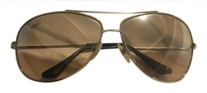 Ray-Ban Ray Ban Aviator Sunglasses Silver With Case