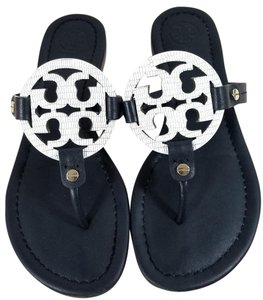 a9d51cf2481b5 Tory Burch Flip Flops Bold Cutout Made In Brazil Made In Brazi Animal Print  Black