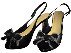 Kate Spade Italy Perfect Condition Bows Patent Leather Black Formal
