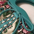 Isabella Fiore Satchel in turquoise and floral Image 10