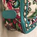 Isabella Fiore Satchel in turquoise and floral Image 4