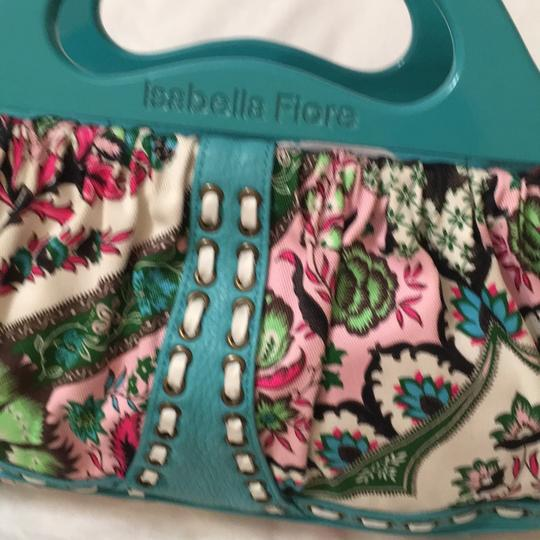 Isabella Fiore Satchel in turquoise and floral Image 6