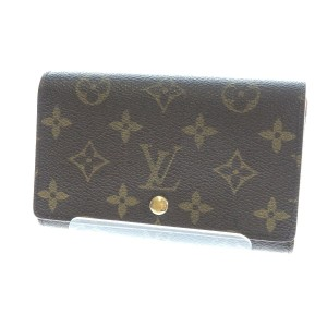Louis Vuitton Tresor Bifold Monogram BI-Fold W Zipper pocket Purse Wallet