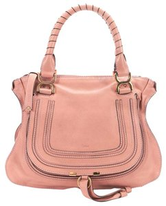 Chlo Leather Handbag Pink Tote Satchel in Blush
