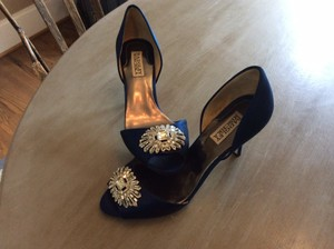 Badgley Mischka Navy Gianna Pumps Size US 8 Regular (M, B)