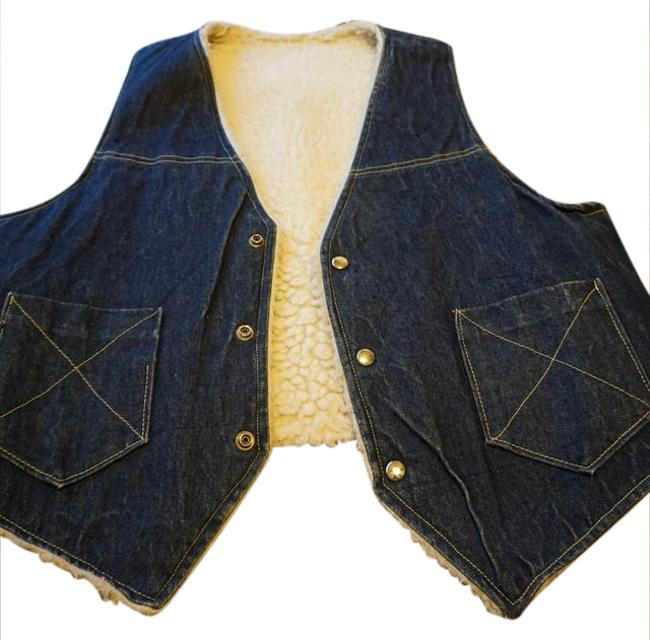 Other Jean Button Up Sheepskin Western Vest Image 0