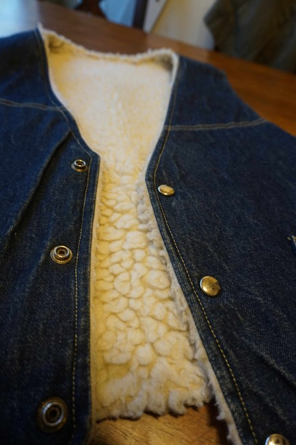 Other Jean Button Up Sheepskin Western Vest Image 1