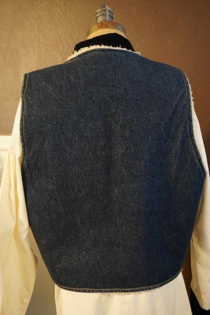 Other Jean Button Up Sheepskin Western Vest Image 3