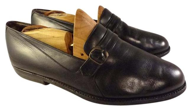 Item - Black Man Loafers Monk Made In Italy Formal Shoes Size US 9.5 Extra Wide (Ww, Ee)