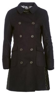 Barbour Lieutenant Leather Trench Cashmere Military Jacket