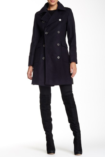Barbour Lieutenant Leather Trench Cashmere Military Jacket Image 1