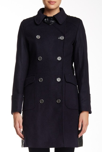 Barbour Lieutenant Leather Trench Cashmere Military Jacket Image 3