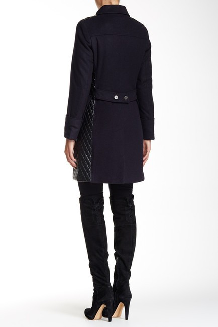 Barbour Lieutenant Leather Trench Cashmere Military Jacket Image 4