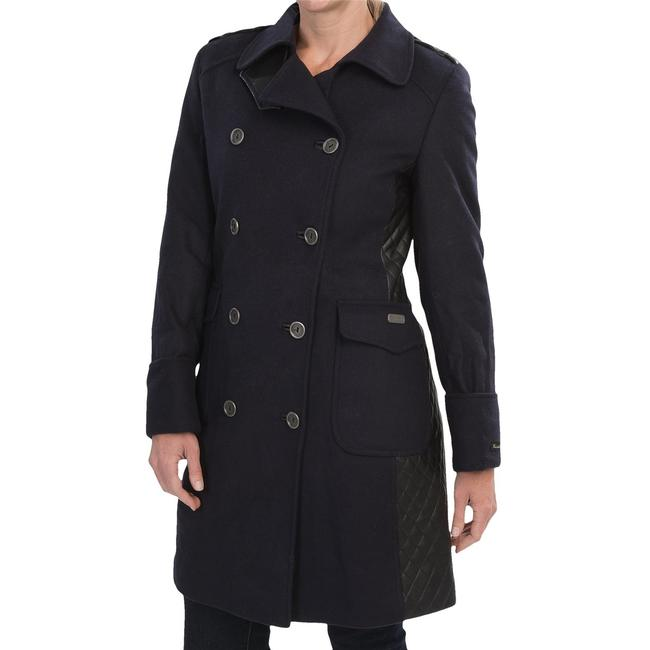 Barbour Lieutenant Leather Trench Cashmere Military Jacket Image 8
