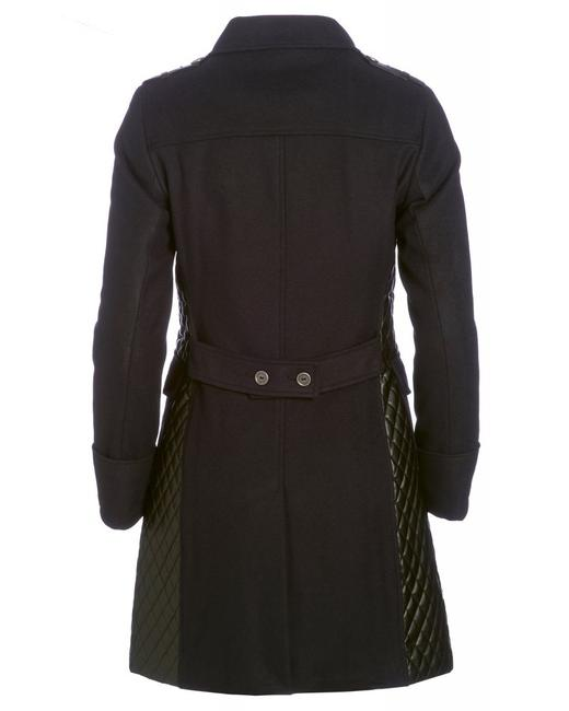 Barbour Lieutenant Leather Trench Cashmere Military Jacket Image 9