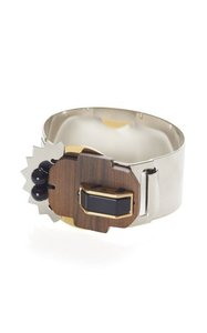 Marni Metal bracelet with wood insect embellishment